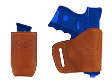 New Barsony Tan Leather Yaqui Holster + Mag Pouch Walther Steyr Comp 9mm 40 45
