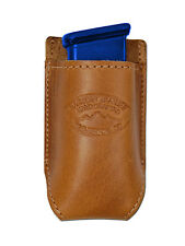 NEW Barsony Tan Leather Single Mag Pouch FEG Makarov 380 & Ultra Compact 9mm 40