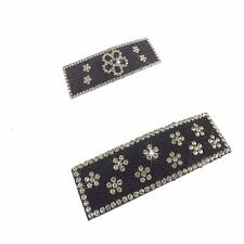 Large Sparkly Diamante and Bedded Hair Snap Clip -Slide -Grip Rectangle-Barrette