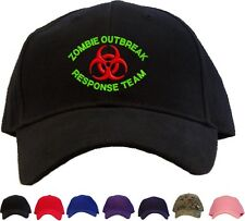 Zombie Outbreak Response Team Embroidered Baseball Cap Available 7 Colors Hat GR