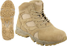 "Desert Tan Military Forced Entry Deployment Combat Tactical 6"" Boots"