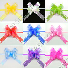 60 AB Coating Small Pull Bows Butterfly Ribbon Wedding Party Xmas Gift Wrap