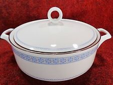 """ROYAL WORCESTER Blue & White """" CHELSEA """" VEGETABLE TUREEN and LID"""