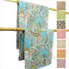 LARGE SELECTION - QUEEN PAISLEY KANTHA THROW TAPESTRY QUILT BEDSPREAD BLANKET Bo