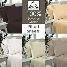 200 Thread Count 100% Egyptian Cotton Fitted Sheets, Flat Sheets, Pillowcase