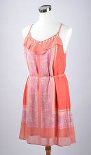 NWT Women's Size 10 LC Lauren Conrad Salmon Pink Chiffon Dress