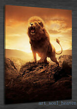 Oil Painting HD Print Wall Decor Art On Canvas,Howl Lion 24x36..(Unframed)