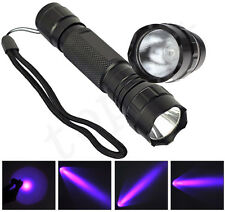 UV WF-501B LED 365NM Ultra Violet Blacklight 18650 Flashlight Torch Lamp Light