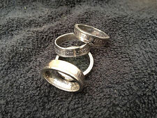 Handmade Coin Rings Made From  One Shilling Coins - Choose The Ring You Want
