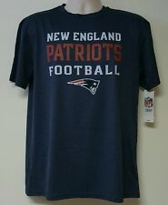 New England Patriots NFL Youth Boys Navy Blue Short Sleeve Poly T-Shirts: L-XL