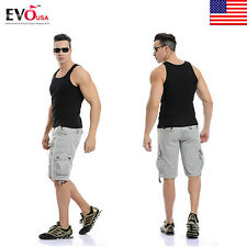 Mens Casual Army Cargo Combat Tactical Work Pocket Camo Trousers Shorts Sports P