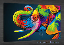 Original Oil Painting HD Print Wall Decor on Canvas,The Elephant  (Unframed)