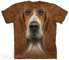 Basset Hound Head T-Shirt from The Mountain-Sizes Adult S - 5X