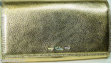 TULA (By RADLEY) Gold Leather Flapover Purse Inner Rear Zip Purses Pockets BNWT