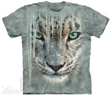 Icicle Snow Leopard Mountain T-Shirt - Adult S-5X & Child S-XL