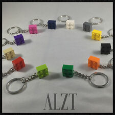 LEGO Brick 2x2 Keychain ~ CHOOSE YOUR FAVORITE LEGO! (12 Colors)