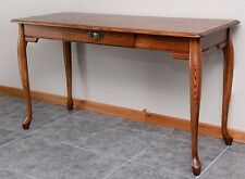 Home Office Computer Desk Solid Oak Queen Anne Style #1043