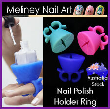 Nail Polish Holder Ring Silicone Nail Art Tool Bottle Flexible Wearable