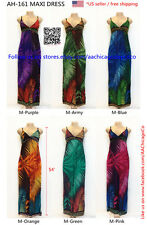 Maxi Dress Stretch Material AH161 Sleeveless Multi Color 54''Long*US SELLER*