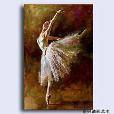 Hand Painted Oil Painting Art On Canvas beautiful young girl ballet Unframed