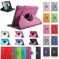 PU Leather 360 Degree Rotating Stand Case Cover For Apple iPad Mini WAKE SLEEP