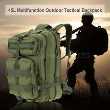 45L MOLLE Military Rucksack Tactical Backpack Travel Camping Hiking Bag I7J6