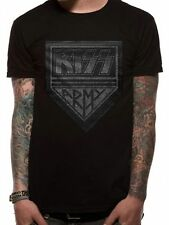 OFFICIAL LICENSED - KISS - ARMY DISTRESSED T SHIRT ROCK SIMMONS