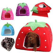 Soft Strawberry Pet Dog Cat Bed House Kennel Doggy Puppy Warm Cushion Basket O#