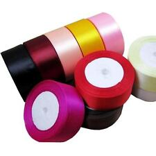 5x 40mm 25 Yards Satin Ribbon Bow Wedding Craft Sewing Decoration Variou colors