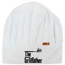 Grillfather Chefs BBQ Premium Cooking Hat Funny Novelty Kitchen Gift Fathersday
