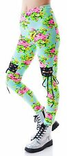 Lip Service Floral Leggings Lace Insets Flower Pants Corset Dolls Kill Hippie
