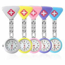 Round Triangular Nurse  Doctor Watch Hanging Pocket Clip-on Time Piece New SY