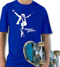 MICHAEL JACKSON ROYAL BLUE YOUTH T SHIRT BOYS & GIRLS MUSIC ROCK RETRO POP KING