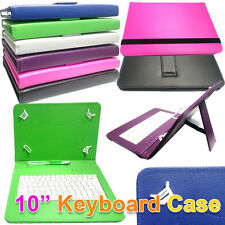"""10.1"""" inch PU Leather Keyboard Case For Bush MyTablet3 16GB Wi-Fi Android Tablet"""