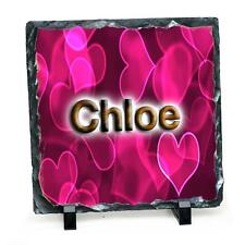 Personalised custom photo slate ANY NAME Perfect gift with stands and gift box
