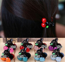 Lovely Bow Cherry Hair Accessories Girl Fashion Hairpin Clips Headdress