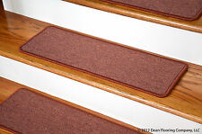 Dean Peel and Stick Carpet Stair Treads - Terra Cotta  (13) Runner Rugs