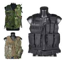 Hunting Tactical Military Combat Vest with Pistol Gun Holster Pouch 3 Color