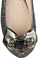 MIU MIU PRADA GLITTER AMAZING CRYSTALS BOW FLATS EU 39 US 8 I LOVE SHOES