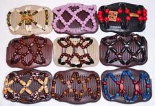 Double Magic Hair Combs, African Style Butterfly Clips, Browns, MultiColors, S35