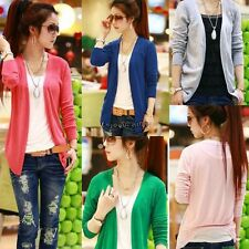 Women Lovely Irregular Hem Casual Tops Knit Sweater Cardigan Jacket Coat OO55