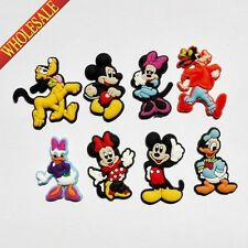 New Mickey Minnie 8-100PCS  PVC shoe charms For Bands & Croc Kids Gift