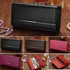 Clutch Women PU Leather Wallet Purse Ladies Envelope Multi-Color Organizer TXGT
