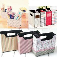 DIY Paper Board Makeup Cosmetic Storage Box Stationery Desk Decor Organizer