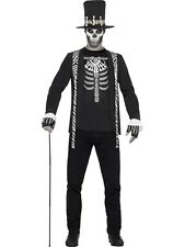 Adult Witch Doctor Costume Mens Skeleton Halloween Fancy Dress Outfit New