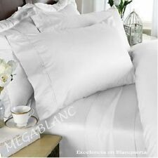 New Stock Bed 1PCs Fitted / Bottom Sheet Solid White Great Fitting Pockets 800TC