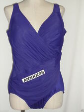 NWT Womens Miraclesuit Oceanus One Piece Swimsuit Eggplant Size 18W-22W