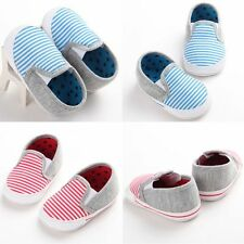 Baby Toddler Infant Boy Girl Newborn Soft Sole Fashion Prewalker Crib Shoes 0-18
