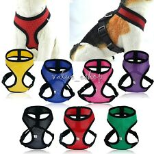 Pet Small Dogs Soft Adjustable Mesh Harness Pet Walk Out Hand Strap Vest Collar
