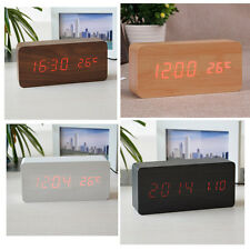 Modern Wood Style Alarm Clock LED Alarm Clock+ Date Cable+ User Manual